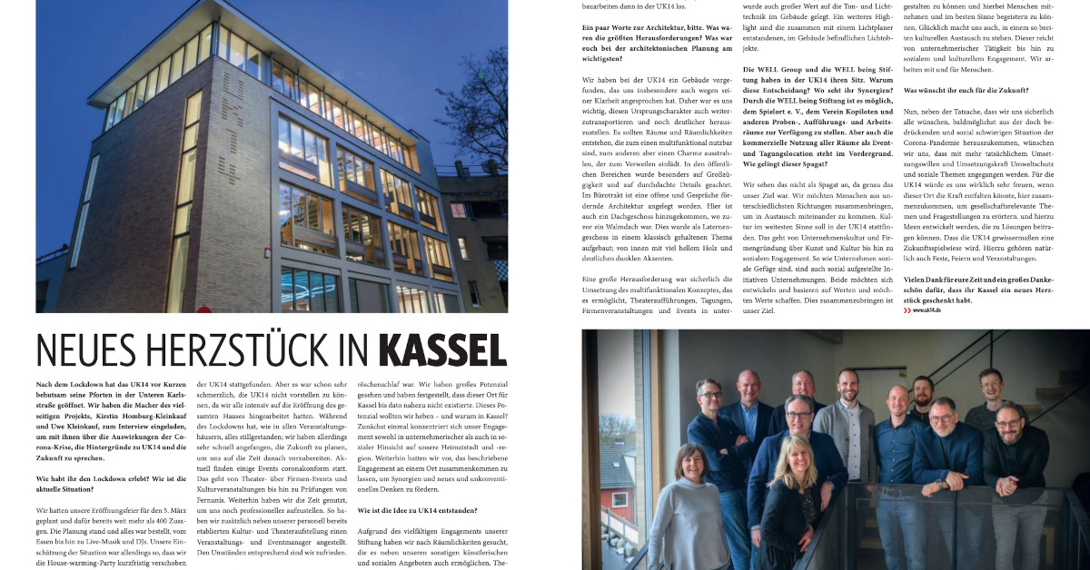 Interview zur UK14 im FRIZZ Magazin